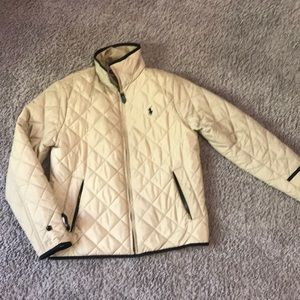 Tan Ralph Lauren sport quilted jacket